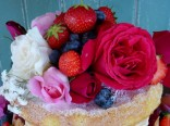organic roses and summer fruits
