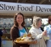 2007 slow food market in Exeter selling honey products, including honey cakes
