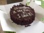 40th Birthday chocolate fudge cake