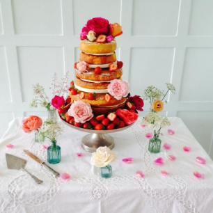 Wedding Cake, 'Cliff House', Salcombe (June 2015)
