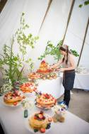 Wedding Cake, 'Cornish Tipi Weddings' (July 2015).  Photo by Kim Appleby