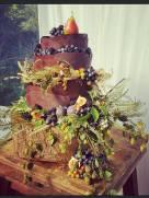 Our Chocolate Wedding Cake - Sept. 2016