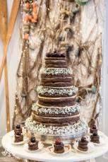 Chocolate Wedding Cake - Salcombe Harbour Hotel - April 2016