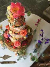 Wedding Cake, 'Pennard House', Shepton Mallet.  July 2016