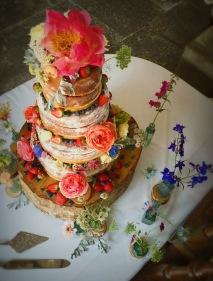 Wedding Cake, 'Pennard House' Shepton Mallet. July 2016.